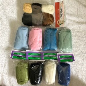Natural wool roving fiber for felting & Crafts
